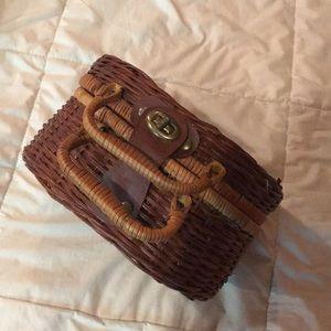 Handbags - Vintage wicker bag, or small picnic basket
